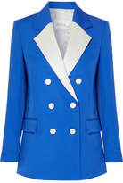 Racil - Hatanaka Double-breasted Wool-piqué Blazer - Bright blue