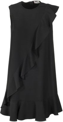 RED Valentino Ruffle Detail Shift Sleeveless Dress