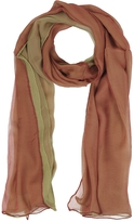 Laura Biagiotti Gradient Burgundy/Light Green Silk Long Scarf