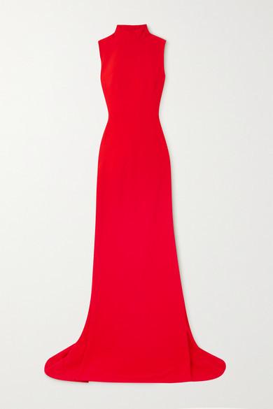Alexander McQueen Open-back Crepe Gown - Red