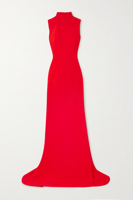 Alexander McQueen Open-back Crepe Gown - Red