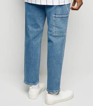 New Look Straight Leg Side Pocket Carpenter Jeans