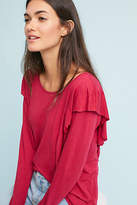 Velvet by Graham & Spencer Ruffled Long-Sleeve Tee