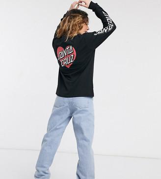 Santa Cruz Heart Dot long sleeve t-shirt in black Exclusive at ASOS