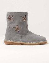 Boden Glitter Suede Boots