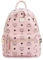 MCM Mini Stark Side Stud Coated Canvas Backpack