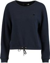 Love Moschino Textured cotton-blend sweatshirt