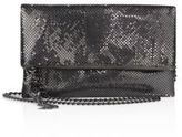 Whiting & Davis Snake Head Fold-Over Crossbody Clutch