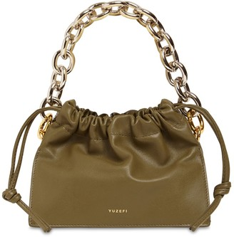 Yuzefi Mini Bom Leather Bag W/Chain Top Handle