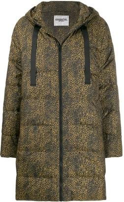 Essentiel Antwerp cheetah-print padded coat