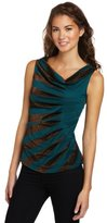 My Michelle Juniors Draped Front Sleeveless Top