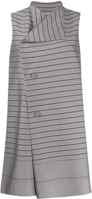 Issey Miyake striped long vest
