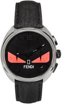 Fendi Silver and Black Momento Bugs Watch