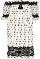 River Island Girls white print lace bardot dress