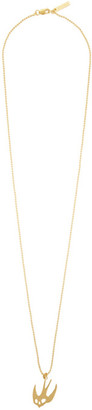 McQ Gold Swallow Necklace
