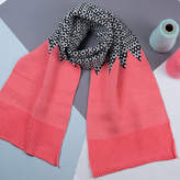 Lowie Salmon And Black Reversible Graphic Scarf