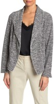 Max Studio Waterfall Tweed Jacket (Petite)