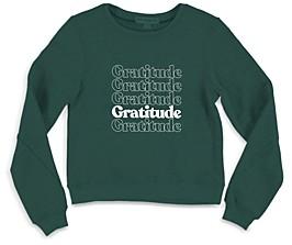 Sub Urban Riot Girls' Selena Gratitude Sweatshirt - Big Kid