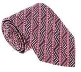 Missoni U5098 Pink/red Graphic 100% Silk Tie.