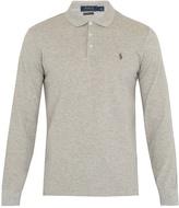 Polo Ralph Lauren Long-sleeved slim-fit piqué polo shirt
