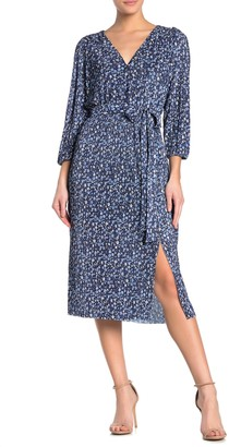 Collective Concepts Long Sleeve Floral Midi Dress