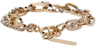 Justine Clenquet SSENSE Exclusive Gold Kirsten Bracelet