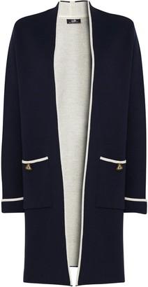Wallis Navy Button Pocket Coatigan