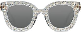 Gucci Embellished Cat-Eye Sunglasses