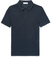 Sandro Slim-Fit Linen Polo Shirt