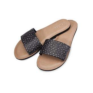 Volcom Women's Women's Simple Synthetic Leather Strap Slide Sandal Sandal