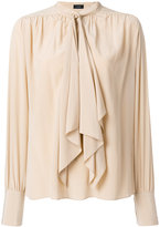 Joseph gathered detailing tie blouse - women - Silk - 38