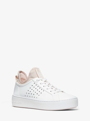 MICHAEL Michael Kors Ace Leather and Scuba Sneaker
