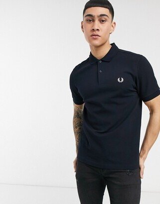 Fred Perry plain polo shirt in navy