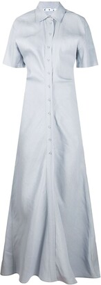 Off-White Long Shirt Dress