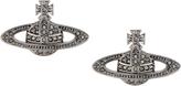 Vivienne Westwood Mini Bas Relief Earrings Black Diamond