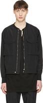 Undecorated Man Black Nylon-blend Bomber Jacket