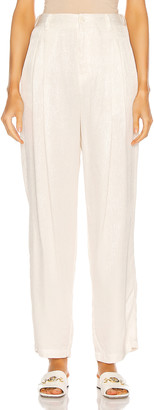 Raquel Allegra Pleated Pant in Dirty White | FWRD