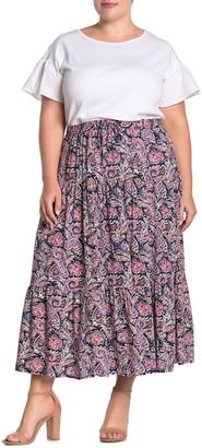 Catherine Malandrino Tiered A-Line Skirt (Plus Size)