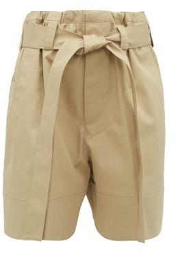 BEIGE Colville - Tie-waist Cotton-twill Shorts - Womens