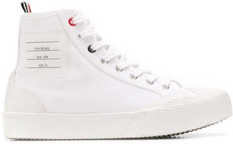 Thom Browne Logo-Patch High-Top Sneakers