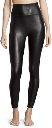 Spanx Ready-to-Wow Faux-Leather Leggings, Black