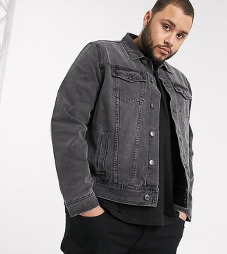 New Look Plus denim jacket in grey wash