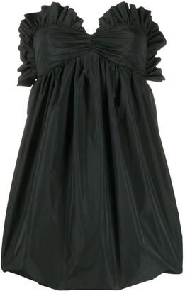 Philosophy di Lorenzo Serafini Ruffled Sweetheart Neck Dress