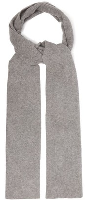 Allude Ribbed Cashmere-blend Scarf - Grey