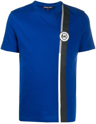 MICHAEL Michael Kors side stripe logo T-Shirt