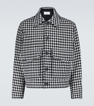 Ami Houndstooth wool-blend jacket