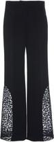 Alexis Novata Lace-Trim Cropped Straight-Leg Pants
