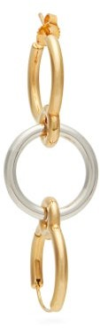 Charlotte Chesnais Three Lovers 18kt Gold Single Earring - Silver Gold
