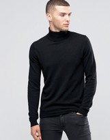 Sisley Roll Neck Sweater in Cashmere Blend