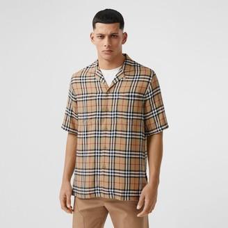Burberry Short-sleeve Vintage Check Twill Shirt